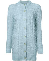 ALEXACHUNG - Cable Knit Cardigan - Lyst