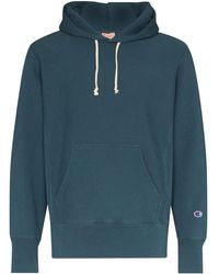 Champion Logo-embroidered Hoodie - Blue