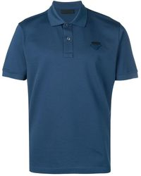 Prada - Logo Patch Polo Shirt - Lyst