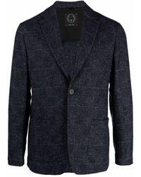 Tonello スリムフィット シングルジャケット - ブルー