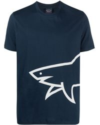 Paul & Shark ロゴ Tシャツ - ブルー