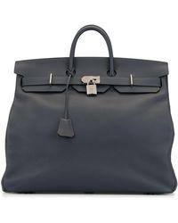 Hermès 2017 Pre-owned Large Haut-a-croire Tote - Blue