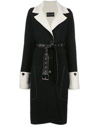 Proenza Schouler Однобортное Пальто Doubleface - Черный