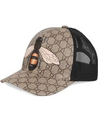 59e5962e401ace Lyst - Gucci Straw Fedora With Bee Ribbon in Natural for Men
