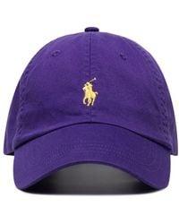 Polo Ralph Lauren Baseballkappe mit Logo - Lila