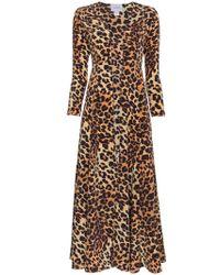 We Are Leone Leopard Print Silk Jacket - Brown