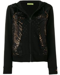 Versace Jeans - Leaf Embroidered Zipped Hoodie - Lyst