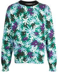 Marni Толстовка С Цветочным Принтом - Зеленый