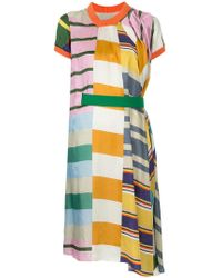 Kolor - Gathered Belt Dress - Lyst