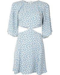Reformation フローラル ドレス - ブルー