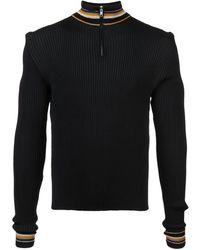 Wales Bonner ジップアップ セーター - ブラック