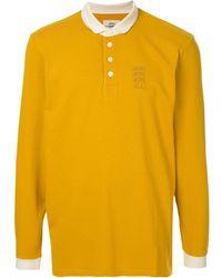 Kent & Curwen コントラストカラー ポロシャツ - イエロー