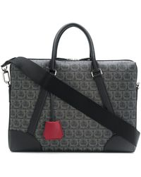 Ferragamo Gancini Laptop Bag - Black