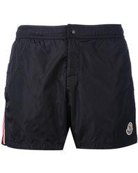 Moncler - Striped Trim Swim Shorts - Lyst