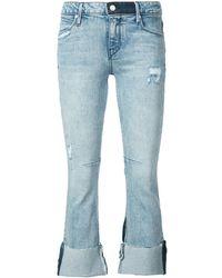 RTA Cropped Jeans Met Rechte Pijpen - Blauw