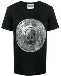 Moschino Black/silver Graphic T-shirt