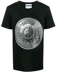 Moschino T-shirt Met Logo - Zwart