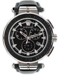 Versace グレカ クロノグラフ 腕時計 45mm - ブルー