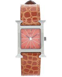 Hermès Наручные Часы Heure H Pre-owned 21 Мм 2000-х Годов - Оранжевый