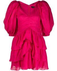 Isabel Marant Ярусное Платье Jaekia - Розовый