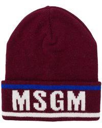 MSGM - Beanie mit Logo - Lyst