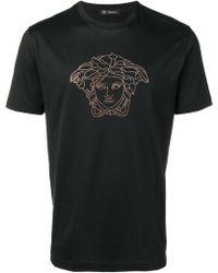 Versace - T-shirt Medusa strassé - Lyst