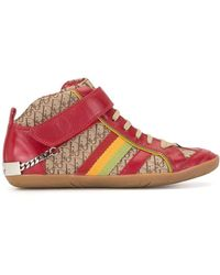 Dior Pre-owned Rasta Trotter High-top Sneakers - Red