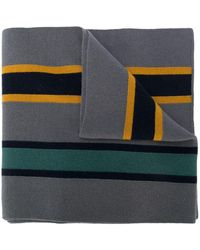 Missoni Striped pattern scarf - Gris