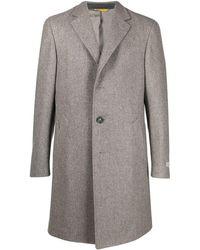 Canali ウール シングルコート - グレー