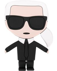Karl Lagerfeld K/ikonik Telefoonhouder - Zwart