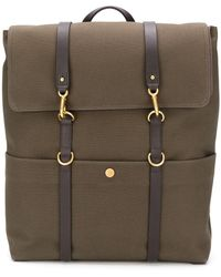 Mismo Canvas Clasp Fastening Backpack - Brown