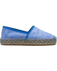 Car Shoe Alpargatas con suela con costuras - Azul