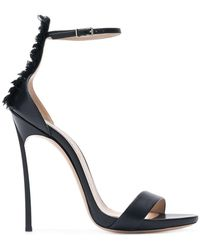 Casadei - Blade Ruffle-trimmed Sandals - Lyst