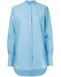 JOSEPH Bratt-summer ノーカラーシャツ - ブルー