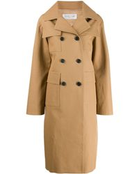 Victoria Beckham Double-breasted Peacoat - Brown