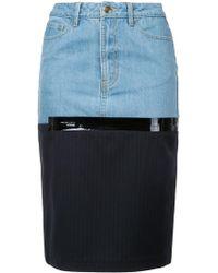 Each x Other | Midi Denim Skirt | Lyst