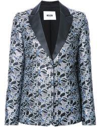 MSGM - Metallic Floral Jacquard Dinner Jacket - Lyst