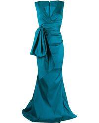 Talbot Runhof Bosworth Dress - Blue