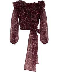 Dolce & Gabbana Блузка В Горох С Оборками - Розовый