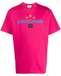 Gucci - Band プリント Tシャツ - Lyst