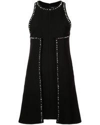 Proenza Schouler Фактурное Платье С Вышивкой - Черный