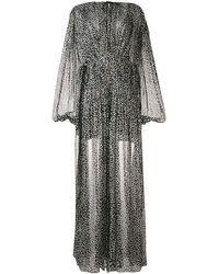 Stella McCartney Semi-sheer Spotted Dress - Black