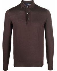 Lardini ロングスリーブ ポロシャツ - ブラウン