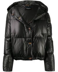 Versace フーデッド ダウンジャケット - ブラック