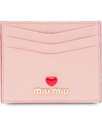 Miu Miu Madras カードケース - ピンク