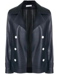 Inès & Maréchal - Double Breasted Leather Jacket - Lyst