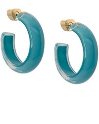 Alison Lou Small Loucite Jelly Hoops - Blue
