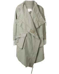 Greg Lauren - Asymmetric Belted Denim Coat - Lyst
