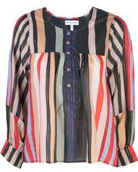 Apiece Apart Striped tunic blouse - Multicolore