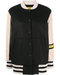 Peserico ロゴ ボンバージャケット - ブラック
